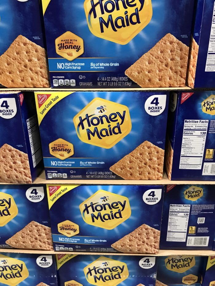 Costco staples and favorites featured by top Utah lifestyle blog, A Slice of Style: image of Honey Maid crackers