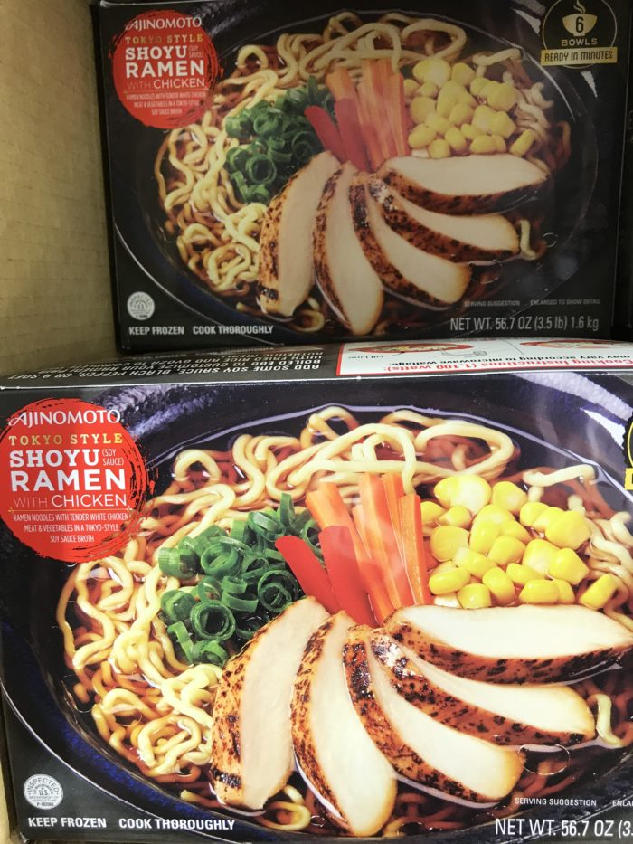 Costco staples and favorites featured by top Utah lifestyle blog, A Slice of Style: image of ramen with chicken