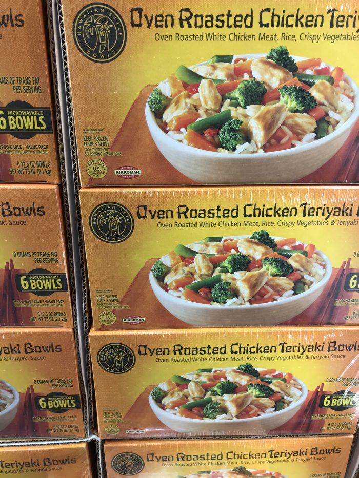 Costco staples and favorites featured by top Utah lifestyle blog, A Slice of Style: image of Chicken teryaki bowls