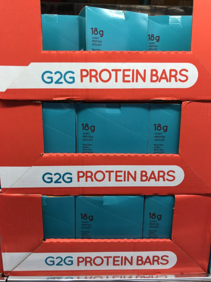 Costco staples and favorites featured by top Utah lifestyle blog, A Slice of Style: image of G20 protein bars