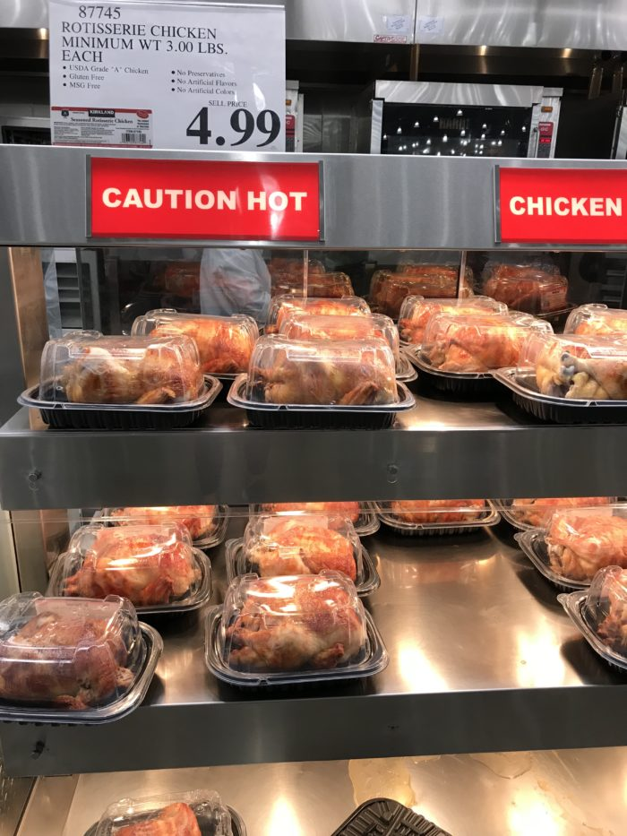 Costco staples and favorites featured by top Utah lifestyle blog, A Slice of Style: image of rotisserie chicken