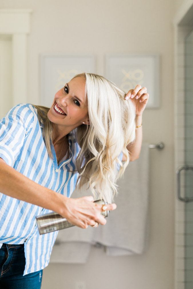 How to Curl Long Hair FAST & Keep your Hair Healthy featured by top Utah beauty blog, A Slice of Style: image of a woman with long curled hair