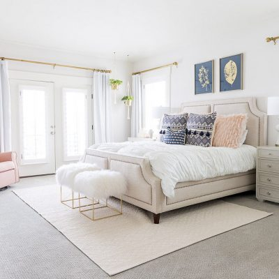 A Fresh White Master Bedroom Reveal!