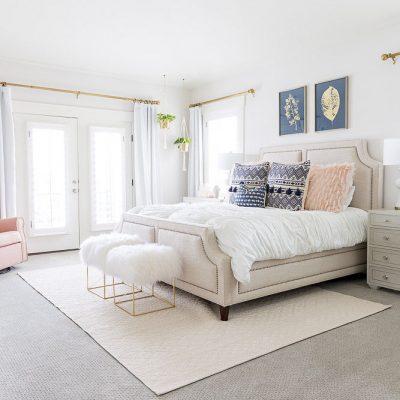 A Fresh White Master Bedroom Reveal!