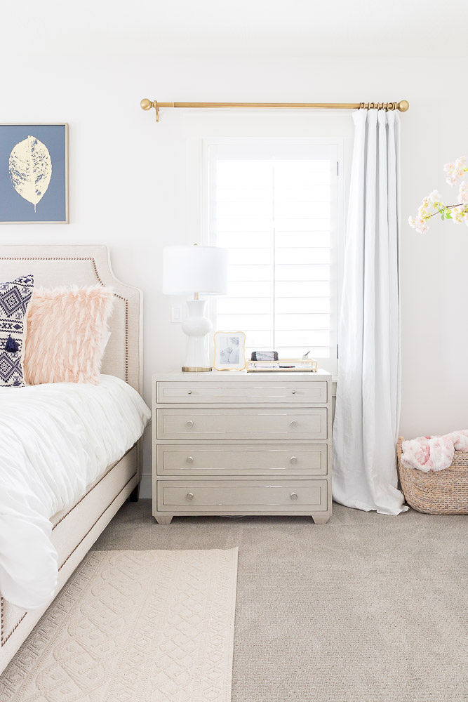 Stunning white master bedroom ideas featured by top Utah life and style blog, A Slice of Style