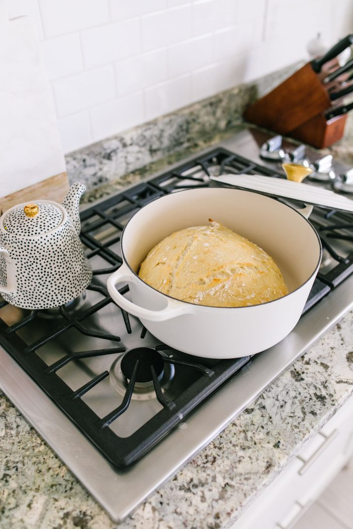 Easter Essentials by popular Utah lifestyle blog, A Slice of Style: image of artisan bread in pot.