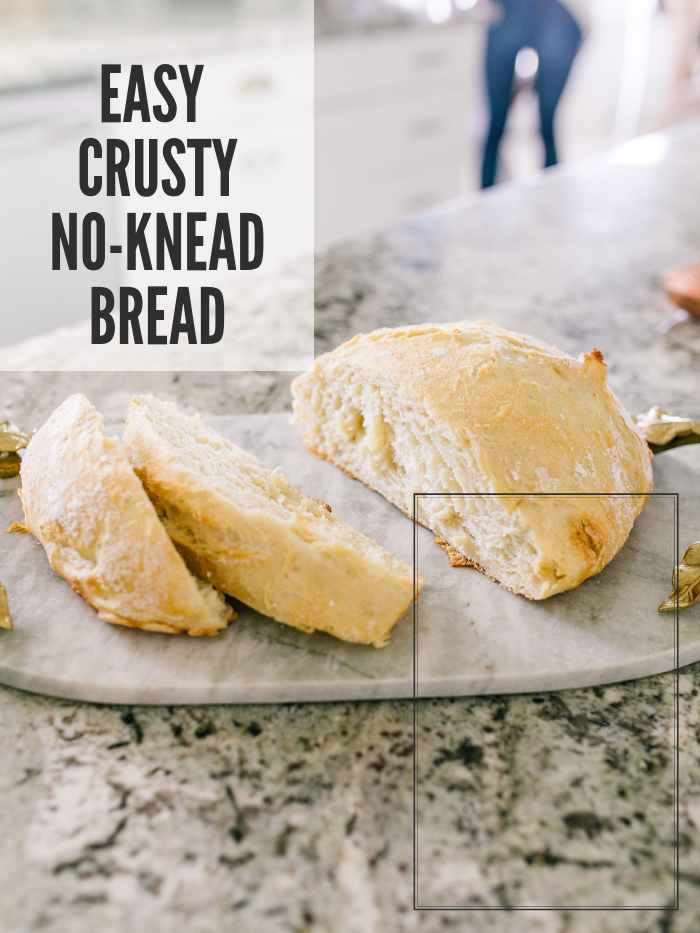 Easy Crusty No Knead Artisan Bread Recipe featured by top US lifestyle blog, A Slice of Style
