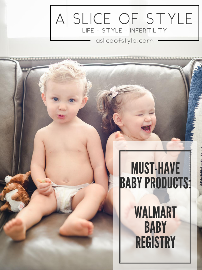 Walmart Baby Registry Must-Have by popular Utah life and style blog, A Slice of Style: image of fraternal boy and girl twins sitting on a couch in diapers.