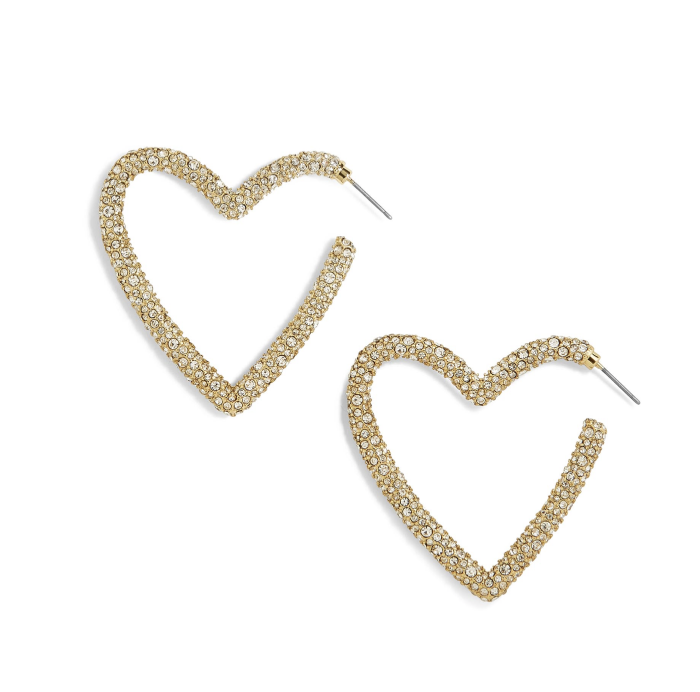 Nordstrom Anniversary Sale Haul featured by top US fashion blog, A Slice of Style: image of Baublebar heart hoop earrings