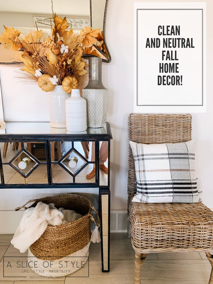 My Home Decorated for Fall! by popular Utah lifestyle blog, A Slice of Style: image of a home decorated with clean and neutral fall home decor items.