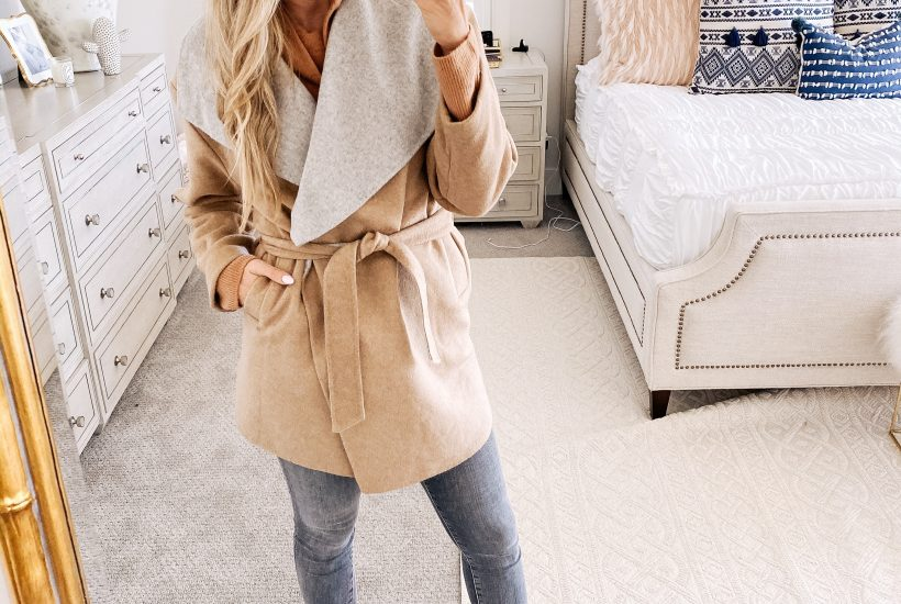 Amazon Fall Fashion Favorites featured by top US life and style blog, A Slice of Style: image of a woman wearing a double face wool coat