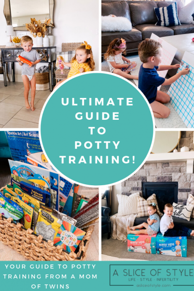 Step by Step Potty Training Guide featured by top US lifestyle blog, A Slice of Style
