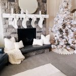 White Christmas decor featured by top US life and style blog, A Slice of Style