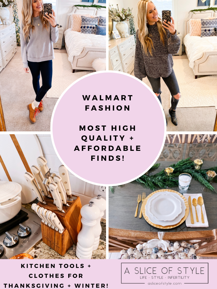 Walmart Fashion and Thanksgiving home decor featured by top US life and style blog, A Slice of Style.