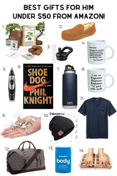 Best Gifts for Him Under $50 from Amazon featured by top US life and style blog, A Slice of Style