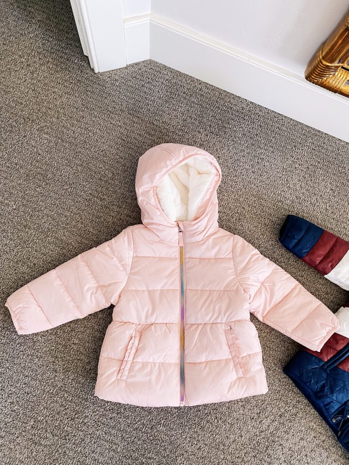 Walmart Fashion January Haul! by popular Utah mom style blog, A Slice of Style: image of The Children's Place Baby Toddler jacket.