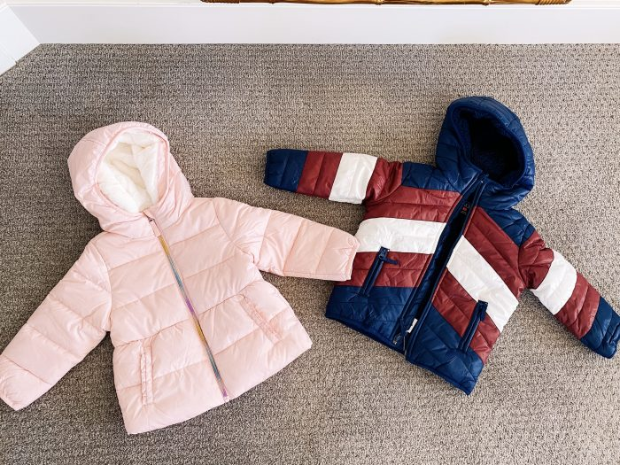 Walmart Fashion January Haul! by popular Utah mom style blog, A Slice of Style: image of Walmart The Children's Place jackets.