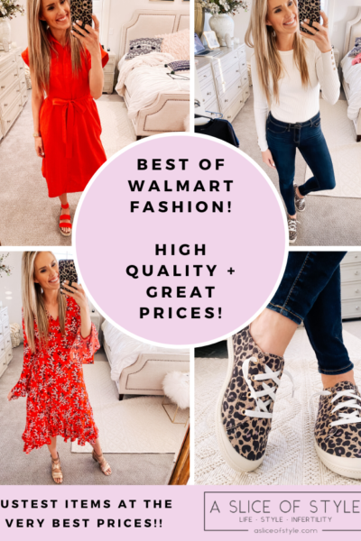 Walmart Fashion Haul for February featured by top Utah mom fashion blog, A Slice of Style.