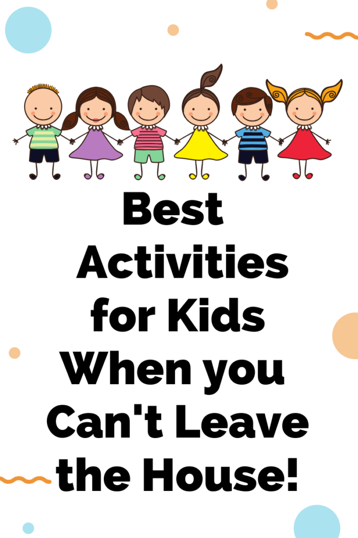Fun Activities for Kids at Home by popular Utah lifestyle blog, A Slice of Style: digital flyer advertising the best activities for kids when you can't leave the house