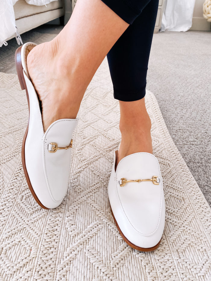 Amazon haul by popular Utah fashion blog, A Slice of Style: image of a woman wearing Amazon Sam Edelman Women's Linnie Mules