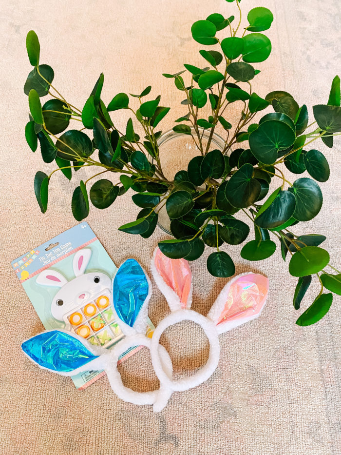 Easter Essentials by popular Utah lifestyle blog, A Slice of Style: image of Easter bunny ear headbands and Easter bunny tic-tac-toe.