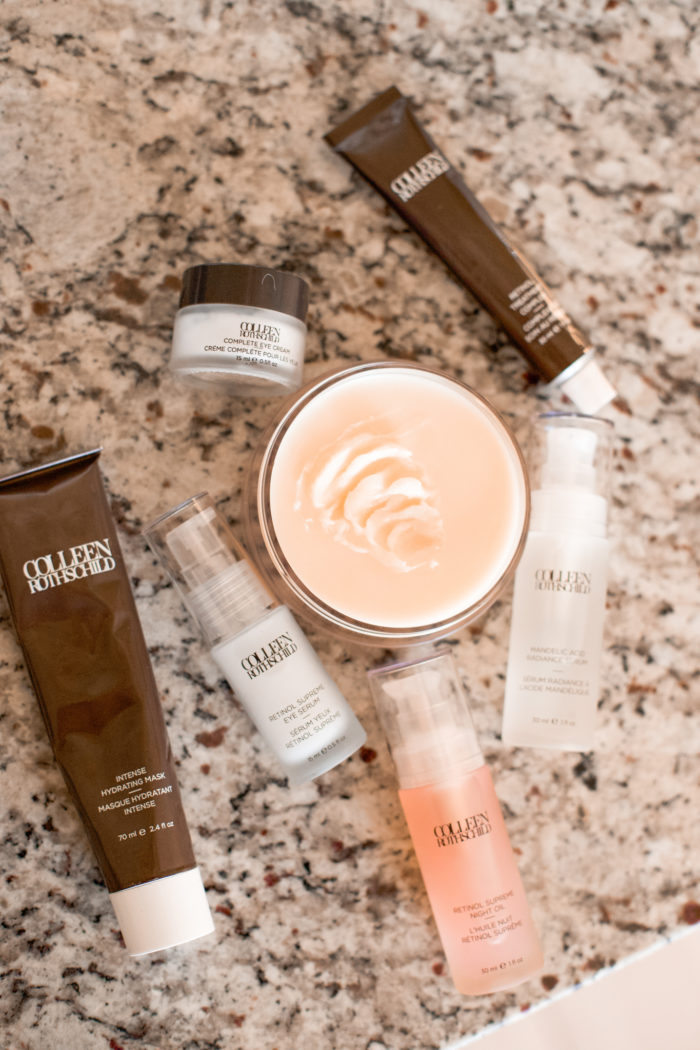 Colleen Rothschild by popular Utah beauty blog, A Slice of Style: image of various Colleen Rothschild anti-aging products.