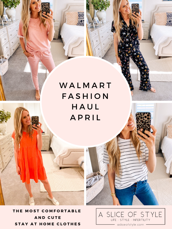 Walmart fashion by popular Utah fashion blog, A Slice of Style: collage image of a woman wearing various Walmart clothing items.