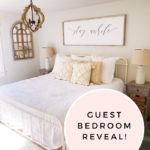 Affordable Farmhouse Guest Bedroom furniture and decor featured by top Utah lifestyle blogger, A Slice of Style.