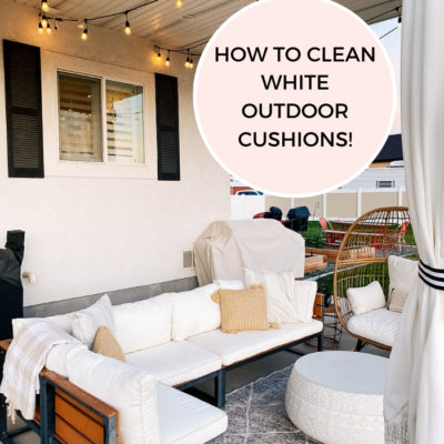 How to Clean White Outdoor Cushions