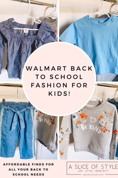 Back to School Fashion with Walmart featured by top Utah lifestyle blogger, A Slice of Style.