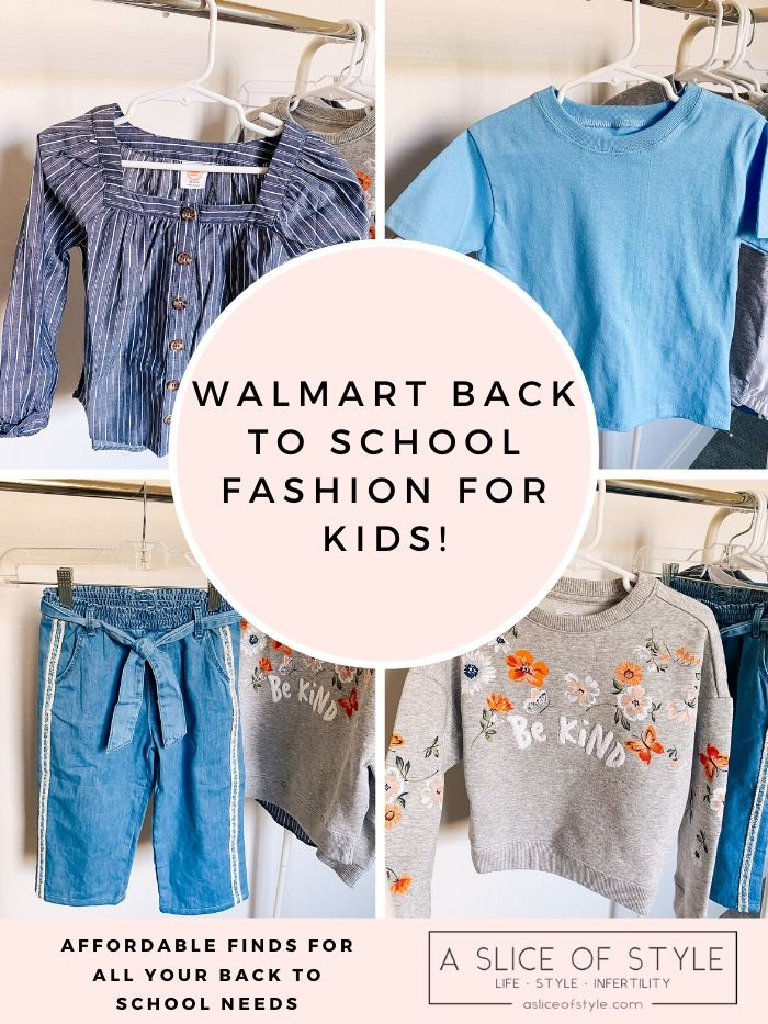 Back to School Fashion with Walmart featured by top Utah lifestyle blogger, A Slice of Style. | Walmart Back to School by popular Utah lifestyle blog, A Slice of Style: collage image of Walmart kids' clothing.
