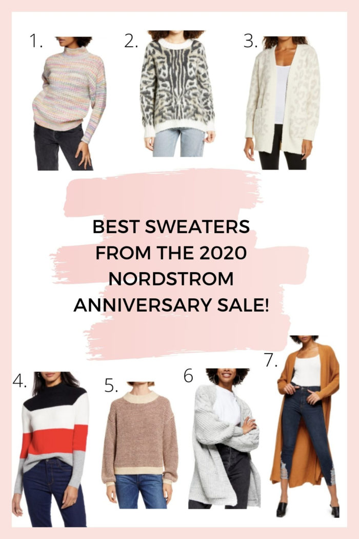 Nordstrom Anniversary Sale by popular Utah fashion blog, A Slice of Style: collage image of various Nordstrom sweaters.