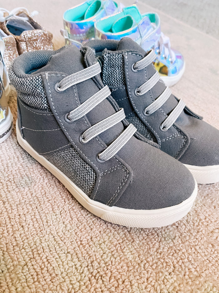 Back to School Fashion with Walmart featured by top Utah lifestyle blogger, A Slice of Style. | Walmart Back to School by popular Utah lifestyle blog, A Slice of Style: image of a pair of Walmart Wonder Nation Casual High-Top Sneaker Shoes.