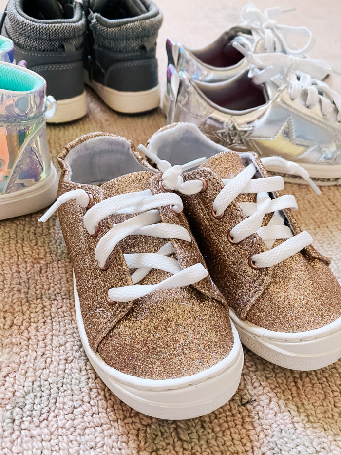 Back to School Fashion with Walmart featured by top Utah lifestyle blogger, A Slice of Style. | Walmart Back to School by popular Utah lifestyle blog, A Slice of Style: image of a pair of Walmart Wonder Nation Casual Bump Toe Sneaker.