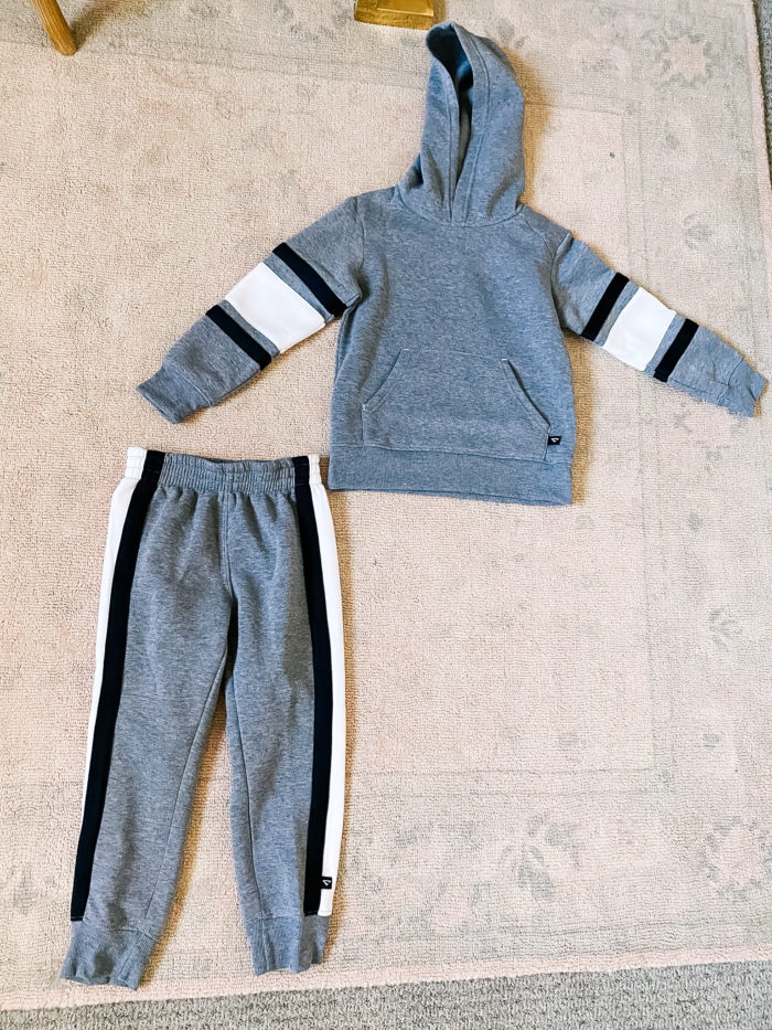 Back to School Fashion with Walmart featured by top Utah lifestyle blogger, A Slice of Style. | Walmart Back to School by popular Utah lifestyle blog, A Slice of Style: image of Walmart Cheetah Boys Fleece Hoodie and Jogger Pants Sweatsuit.