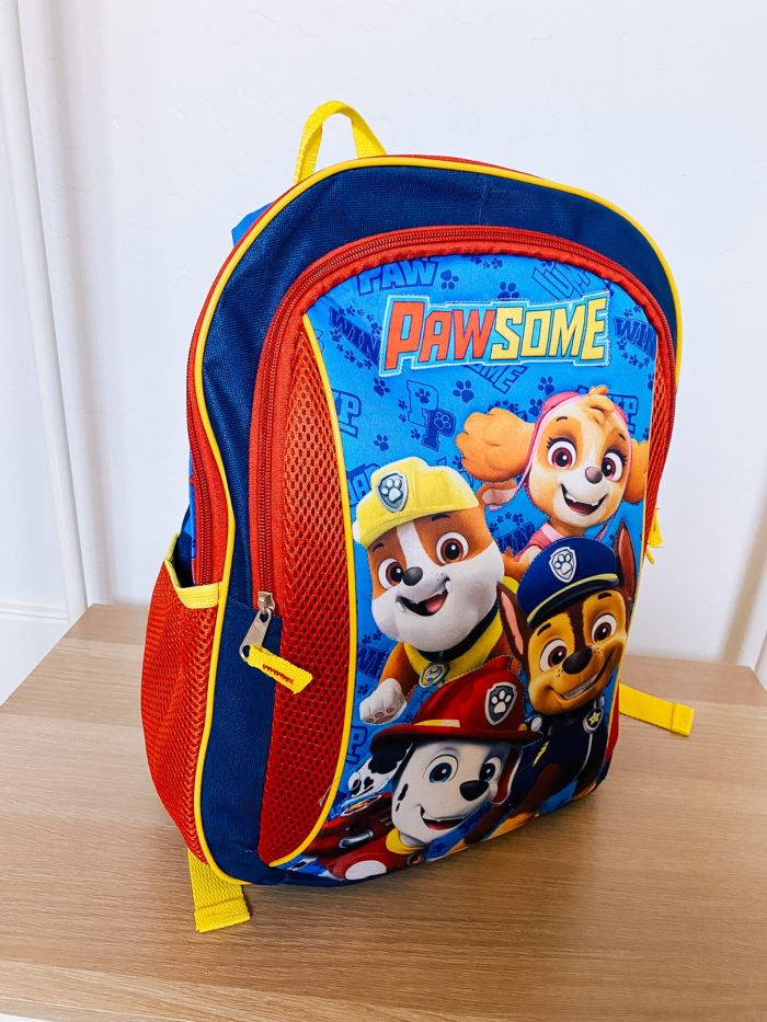 Back to School Fashion with Walmart featured by top Utah lifestyle blogger, A Slice of Style. | Walmart Back to School by popular Utah lifestyle blog, A Slice of Style: image of a pair of Walmart Paw Patrol back pack.