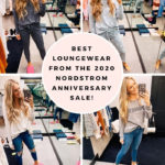 Nordstrom Anniversary Sale by popular Utah fashion blog, A Slice of Style: collage image of Jenica Parcell wearing various Nordstrom loungewear items.