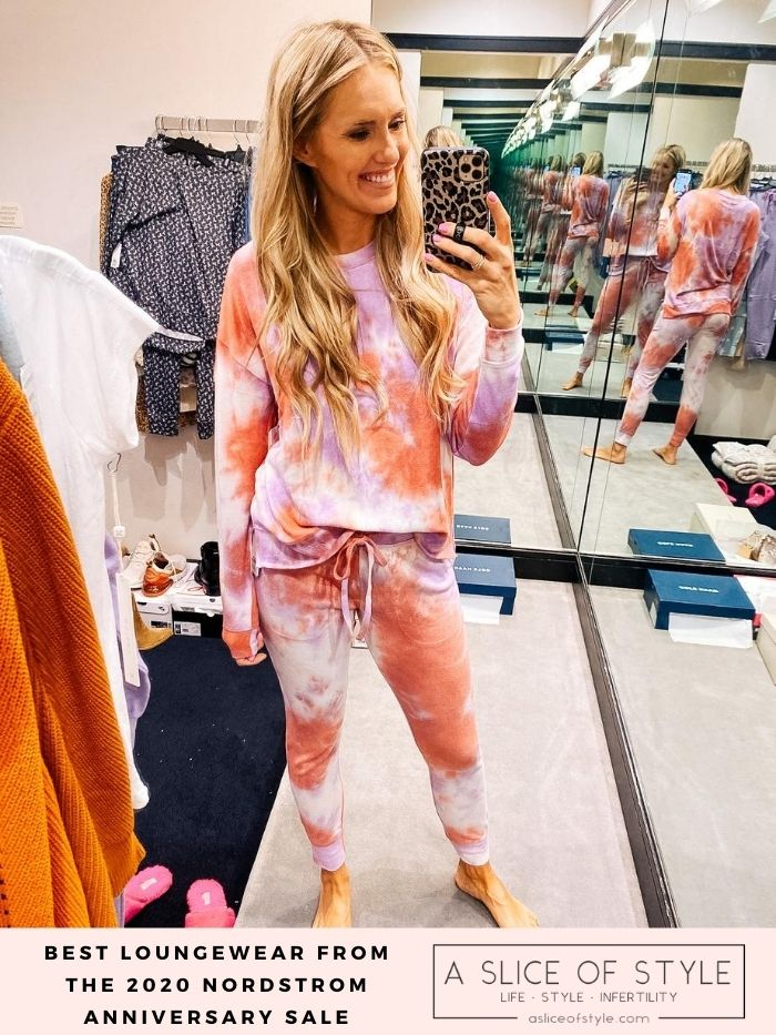 Nordstrom Anniversary Sale by popular Utah fashion blog, A Slice of Style: image of Jenica Parcell wearing a Nordstrom Cozy Top BP. and Nordstrom Jogger Pants BP..