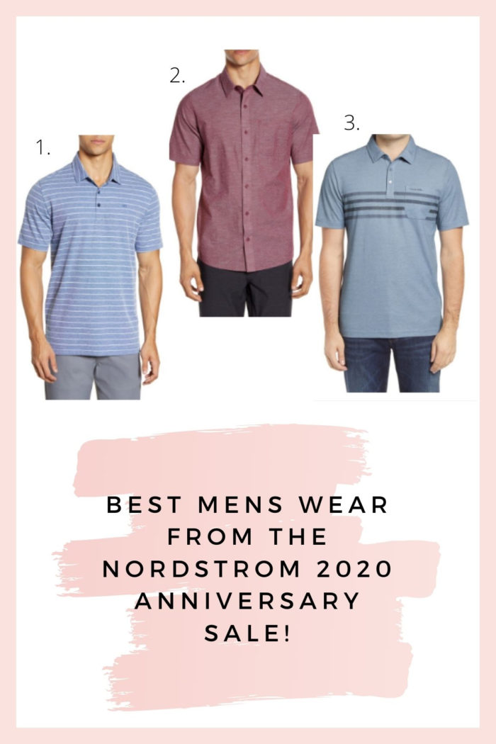Nordstrom Anniversary Sale by popular Utah fashion blog, A Slice of Style: collage image of three TravisMathew button up shirts.