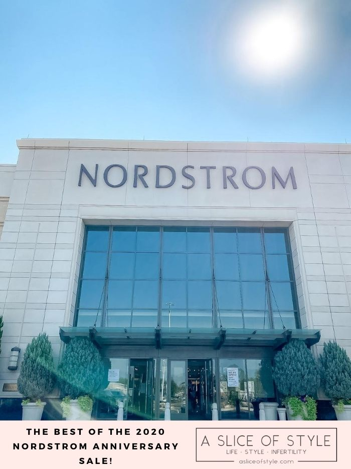 Nordstrom Anniversary Sale by popular Utah fashion blog, A Slice of Style: image of a Nordstrom store front.