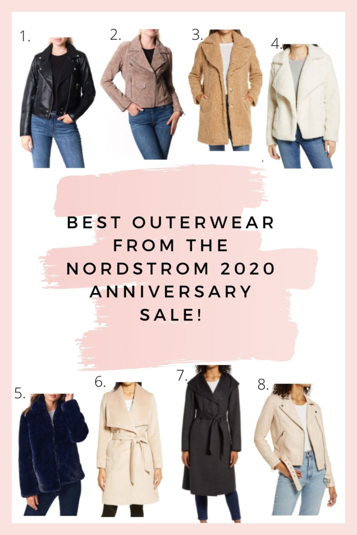 Nordstrom Anniversary Sale by popular Utah fashion blog, A Slice of Style: collage image of various Nordstrom coats and jackets.