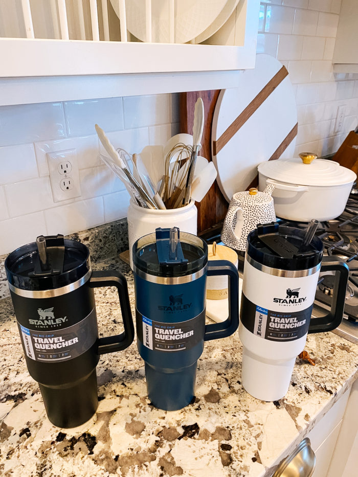 best cups to keep drinks cold | Epstein-Barr Virus by popular Utah lifestyle blog, A Slice of Style: image of three Stanley ADVENTURE QUENCHER TRAVEL TUMBLERS