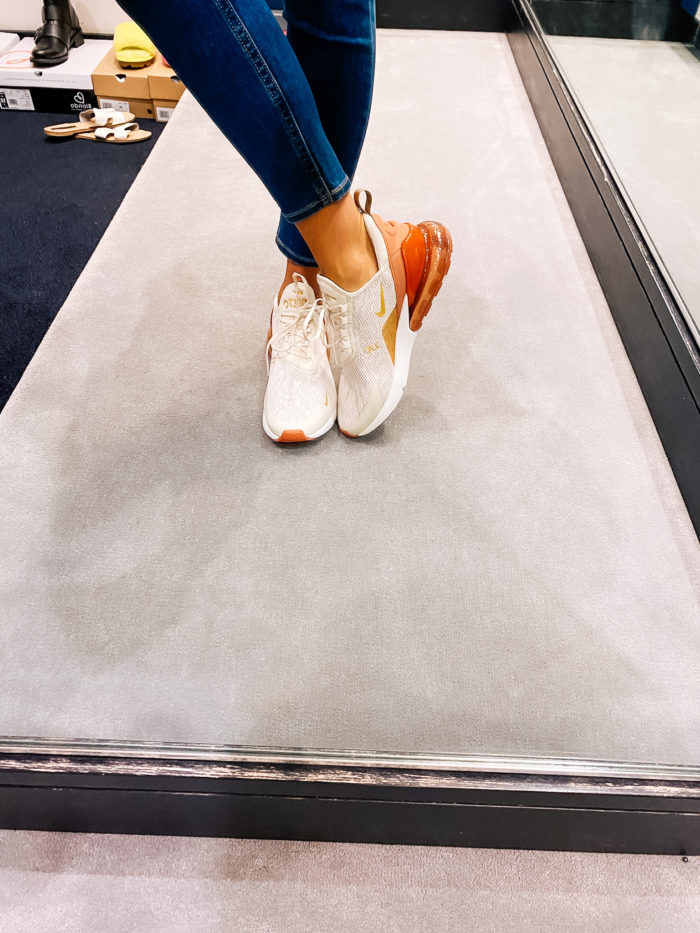 Nordstrom Anniversary Sale by popular Utah fashion blog, A Slice of Style: image of Jenica Parcell wearing a pair of Nordstrom Air Max 270 Premium Sneaker NIKE.