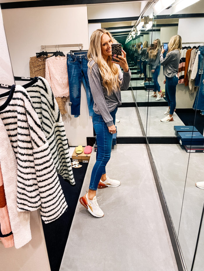 Nordstrom Anniversary Sale by popular Utah fashion blog, A Slice of Style: image of Jenica Parcell wearing a Nordstrom Indoorsy Washed Graphic T-Shirt SUB_URBAN RIOT.