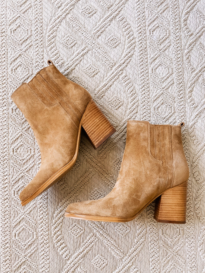 Nordstrom Anniversary Sale by popular Utah fashion blog, A Slice of Style: image of a pair of Oshay Pointed Toe Bootie MARC FISHER LTD.
