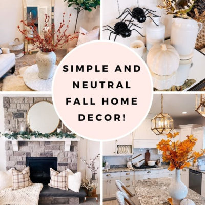 Simple and Neutral Fall Home Decor!