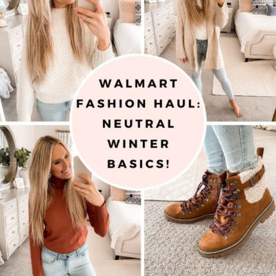 November Walmart Fashion Haul: Neutral Winter Basics!