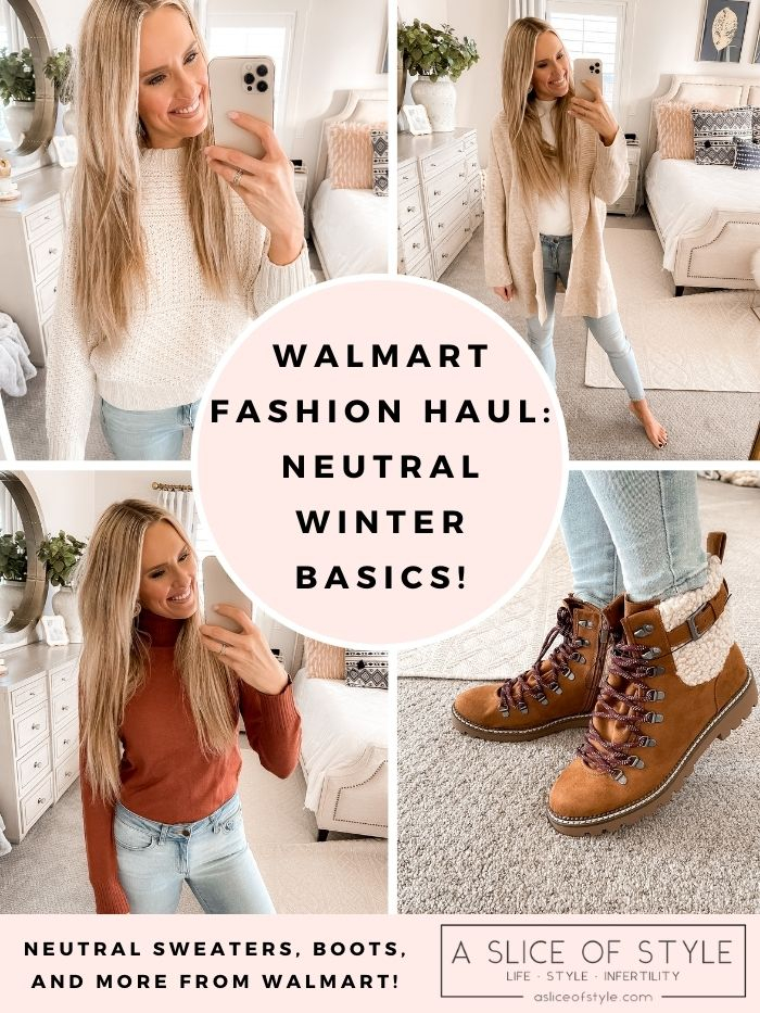 Walmart Fashion Haul: Neutral Winter Basics!