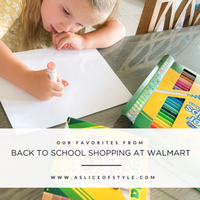 Back to School Shopping at Walmart